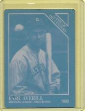1/1 EARL AVERILL 1993 CONLON PRINTING PRESS PLATE CLEVELAND INDIANS 1 OF 1