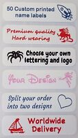50 Personalised Iron On Name Labels ideal for School Uniform