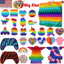 Push Pop it Bubble Sensory Fidget Toy Stress Relief Rainbow Silicone Kids Games