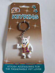 English Bull Terrier Acrylic Keyring