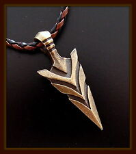 ARROWHEAD Pendant Necklace JEWELRY - braided cord with clasp - Indian style