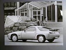 """1988 Porsche 928 S4 Coupe B&W Press """"Werkfoto"""" Photo Factory Issued RARE L@@K"""