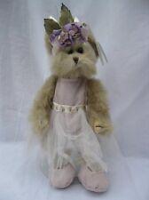 "Bearington Collection Giselle Bear Pink Ballerina Dress Jointed Plush 9"" #1466"