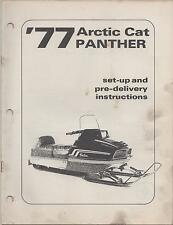 1977 ARCTIC CAT PANTHER SNOWMOBILE SET-UP/ PRE-DELIVERY INSTRUCTION MANUAL(477)