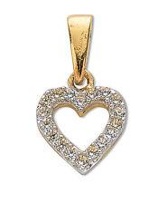 ciondolo a cuore collana pendente aperto oro giallo