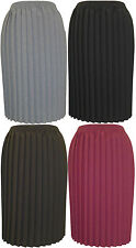 Ladies Knife Pleated Skirts, Big/Plus sizes, in choice of Colors/Sizes.