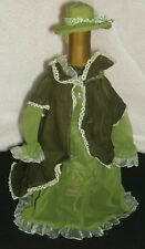 Green Fashion Dress Hat Wine Bottle Cover 3229  FREE SHIPPING