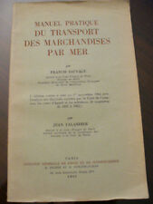 (PRL) ANTIQUE BOOK LIVRE 1965 LIBRO MANUEL PRATIQUE TRANSPORT MARCHANDISES MER