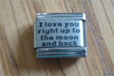 9mm Classic Size Italian Charm  L52 I Love You right up to the moon