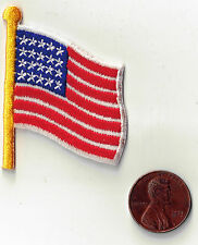 AMERICAN FLAG  Iron-On Applique Embroidered Sewing Fabric Embellishment