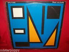 SPLIT ENZ True Colours LP AUSTRALIA 1979 MINT- Mushroom Label Blue/Yellow Cover