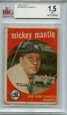 1959 Topps #10 Mickey Mantle - BVG 1.5