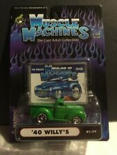 2001 Muscle Machines : 1940 '40 Willy's Truck  1:64 Scale - 01-77