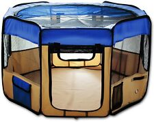 """New Esk Collection Blue 45"""" Pet Puppy Dog Play Pen Exercise Kennel 600d Oxford"""
