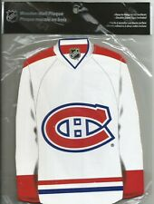 MONTREAL CANADIENS WOODEN WALL PLAQUE AWAY JERSEY
