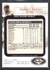 ANDRES TORRES 2002 FLEER BOX SCORE DEBUTS #5 DETROIT TIGERS 843/2002 SP $8