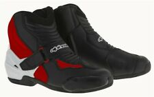 Alpinestars SMX-1 R Smx 1 RED Short Ankle Riding Motorcycle Boots - Sports