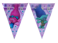 Trolls Flag Banner Bunting Children's Birthday Party Decoration Boys Girls