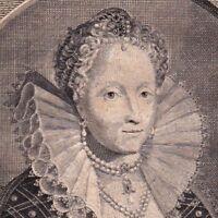 Portrait XVIIIe Elizabeth Première Reine d'Angleterre et d'Irlande Maison Tudor
