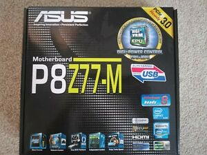 ASUS P8Z77-M MATX Motherboard - Z77 Chipset - Intel i7 Gen 2 & 3 Compatible