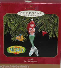Disney Ariel Little Mermaid Hallmark Ornament Flounder Christmas 1997 Vintage