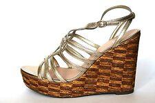 Clarks Women's UK 7 D Tortoise Shell Metallic Wedge Heel Platform New Sandals