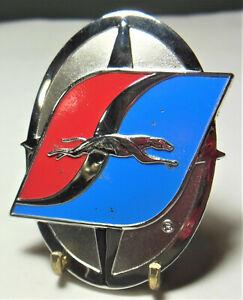 🚌 Vtg. Greyhound Bus Co. logo emblem employee service hat badge pin