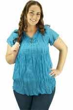 Handmade Short Sleeve Casual Solid Tops for Women
