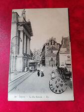 Magnifique CPA animée - Dijon - La Rue Rameau - Tramway - Horlogerie