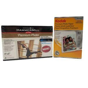 NEW/Sealed 4x6 Premium Gloss Photo Paper - Kodak - Hammermill -120 Sheets Total