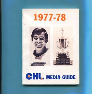 1977-78 CHL Media Guide Barclay Plager & Tommy Ivan Trophy on cover EX