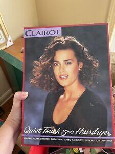 Vintage Clairol Quiet Touch Hair Dryer 1500 Watt -New