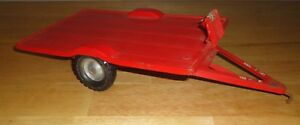 Vintage TRU-SCALE Red TILT TILTING FLAT TRAILER Farm Tractor Attachment