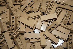 LEGO 30 x SAND YELLOW-DARK TAN BRICKS 1x4 No 3010 LEGO CITY,STAR WARS,MOVIE