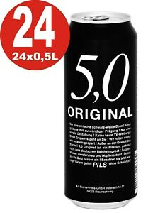 24x0,5L Dosen 5.0 Original Pils 5% Vol Dosenbier_Einweg 2,03€/L