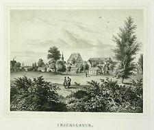 Tonlithografie 1854 - LENGENFELD Rittergut Irfersgrün - Poenicke