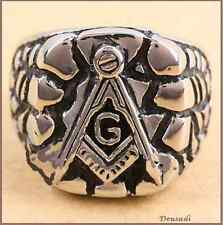 Ring Of Freemasonry In Relief Stainless Steel