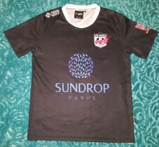 MENS Sz M black white blue & red TEAM SPIRIT training t-shirt SPORTY! No 35!