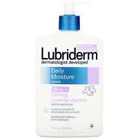 Lubriderm  Daily Moisture Lotion  Shea   Calming Lavender Jasmine  16 fl oz  473