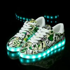 Size 30-41 LED Shoes For Kids & Adults USB Rechargable Luminous Sneakers
