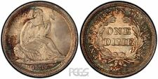 PCGS Certified XF 45 Graded Seated Liberty Dimes (1837-1891)