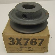 "Browning AK25 X 3/4"" V-Belt Pulley 3/4""Fixed, 2.55""OD Cast Iron 3X767  (PD 2.3')"