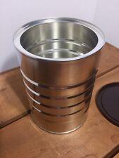 1 Empty Metal Coffee Can Container for DIY Craft Storage Kitchen Garage 1 Liter
