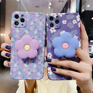 iPhone 11 Pro Max Xs Max XR 8 7 Plus Fashion Flower Cute Case Silicone TPU Women
