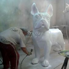 XXXXL FRANZÖSISCHE BULLDOGGE 180 cm weiß RIESEN HUND Deko Garten Tier Figur