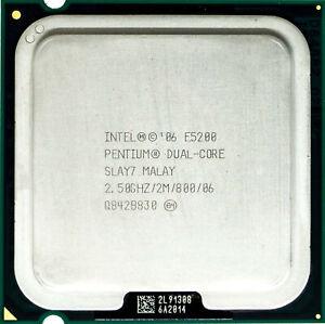 Intel Pentium E5200 (SLAY7) 2.50GHz 2-Core LGA775 CPU