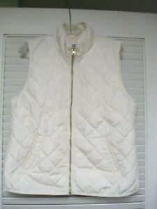 Old Navy light Weigt Quilted Vest Cream Zip Large