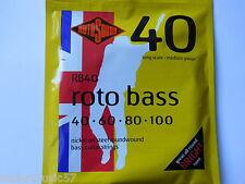 Rotosound RB40 Roto Bass Guitar Strings - Nickel Roundwound 40-100 Medium Gauge