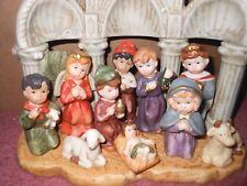 Children's Nativity Set, Hand Painted, Free Shipping