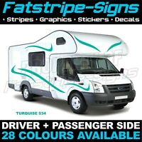 MOTORHOME GRAPHICS STICKERS DECALS CAMPER VAN CARAVAN HORSEBOX DUCATO SWIFT 07